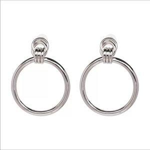 🖤 silver hoops 🖤